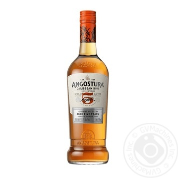 Ром Angostura Карибский 5 лет 37,5% 0,7л - купить, цены на МегаМаркет - фото 1