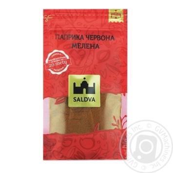 Паприка червона мелена Saldva 25г - купити, ціни на Novus - фото 1
