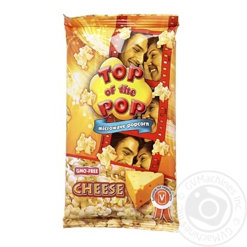 Top of Pop Cheese Flavor Popcorn for Microwave Oven 100g - buy, prices for Novus - image 1