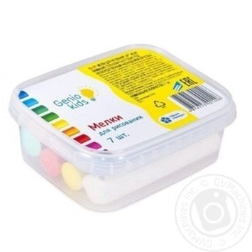 Genio kids Chalk for drawing 7pcs - buy, prices for Metro - image 1