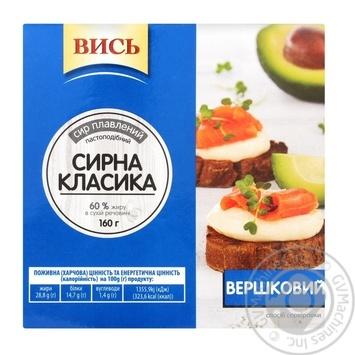 Сыр Высь Сливочный плавленный пастообразный 60% 160г - купить, цены на Novus - фото 1