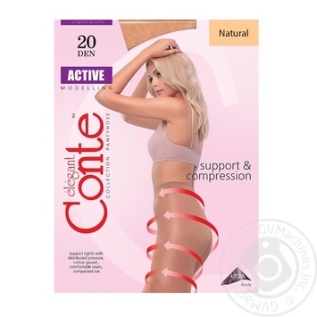 Tights Conte Active natural polyamide for women 20den 5size - buy, prices for Novus - image 1