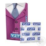 Презервативы латексные Vizit Ribbed с кольцами №12