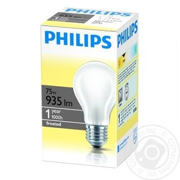 Philips Bulb Opaque A55/E27 75W - buy, prices for Novus - image 1