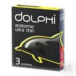 Презервативи Dolphi анатомічні надтонкі для природних відчуттів 3шт