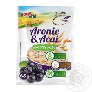 Каша овсяная Bona Vita с ягодами арония и асаи 65г