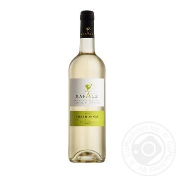 Вино Rafale Chardonnay Pays D'OC белое полусухое 12% 0,75л - купить, цены на Novus - фото 1
