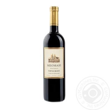 Вино Meomari Пиросмани красное полусладкое 12.5% 0,75л - купить, цены на Novus - фото 1