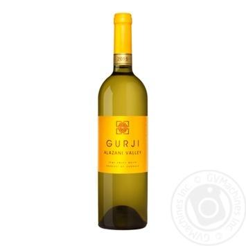 Вино Gurji Алазанская долина белое полусладкое 0,75л