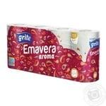 Папір туалетний ароматизований Grite Emavera aroma 8шт - купить, цены на Novus - фото 1