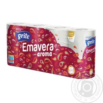 Папір туалетний ароматизований Grite Emavera aroma 8шт - купити, ціни на Novus - фото 1