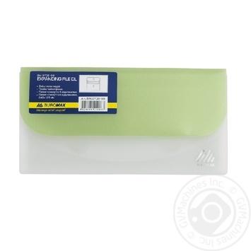 Папка-конверт Buromax DL Travel на липучці 1шт - купити, ціни на CітіМаркет - фото 1
