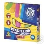 Пластилін Astra флуоресцентний 6 кольорів