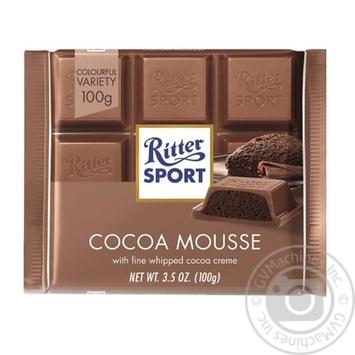 Шоколад молочний Ritter Sport  з начинкою какао-мусс 100г - купити, ціни на МегаМаркет - фото 1