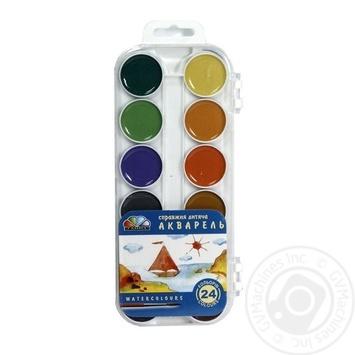 Фарба акварель Гамма 24 кольори Медова пластик - купить, цены на Novus - фото 1