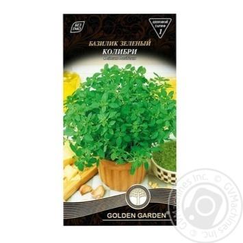 Насіння Базилік зелений Колібрі Golden Garden 0,5г - купить, цены на Novus - фото 1