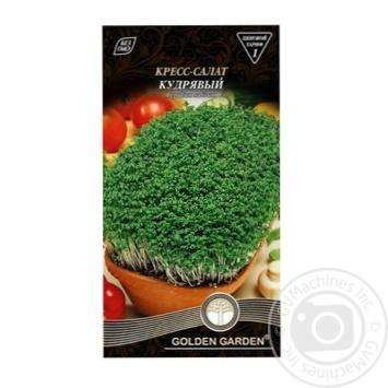 Семена Golden Garden Кресс-салат кудрявый 1г