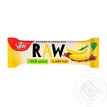 Fruit Bar Raw Banana And Cocoa Fruit Bar 35g - buy, prices for Novus - image 1