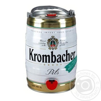 Пиво Krombacher Pils светлое 4,8% 5л - купить, цены на Novus - фото 1