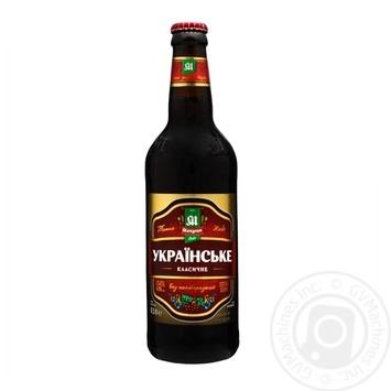Пиво Микулин Українське темне 4,3% 0,5l - купити, ціни на Novus - фото 1