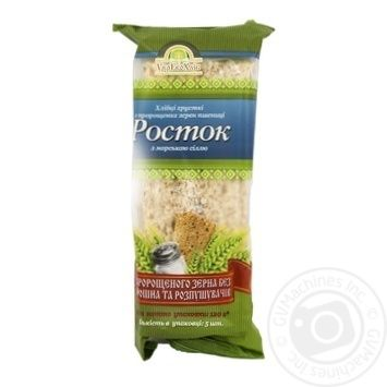 UkrEcoKhlib Rostok Crispbread From Germinated Wheat Grains With Sea Salt - buy, prices for MegaMarket - image 1