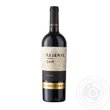 Wine merlot Inkerman red dry 10-14% 750ml glass bottle Ukraine