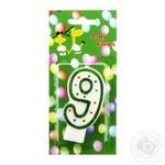 Свічка для торту Party Favors Цифра 9