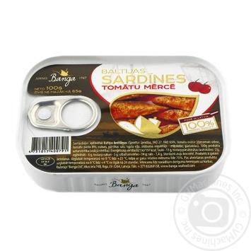 Сардины Banga в томатном соусе 170г - купить, цены на Novus - фото 1