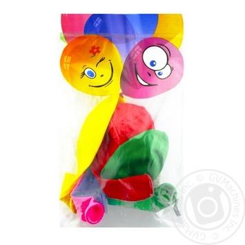 Кулі повітряні Все для свята Party Favors асорті 5шт 61100/5 - купити, ціни на Novus - фото 1