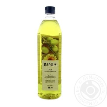 Смесь подсолнечного и оливкового масла IONIA рафинированное 1л
