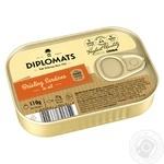 Сардины Diplomats подкопченые в масле 110г