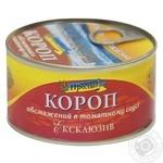 Короп Морський Пролив Ексклюзив обсмаженний в томатному соусі 240г