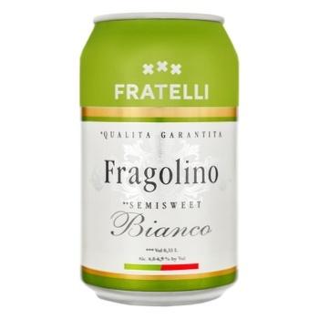 Вино игристое Fratelli fragolino полусладкое белое 9.5-13% 0.33л - купить, цены на Фуршет - фото 1