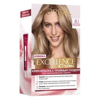 Краска для волос Loreal светло-русый пепельный - купить, цены на Ашан - фото 2