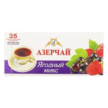 Tea Azerchay with berries black packed 45g - buy, prices for Novus - image 1