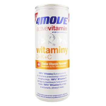 Напій безалкогольний ізотонічний негазований пастеризований з додаванням вітамінів D+K+C 4Move 250мл - купить, цены на Novus - фото 1