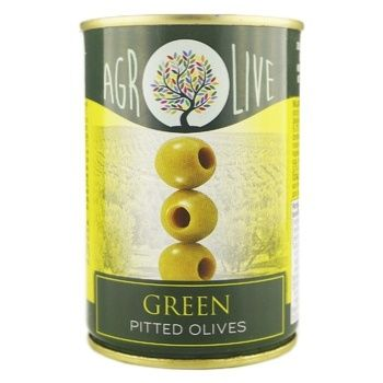 Agrolive Pitted Green Olives Can 292ml - buy, prices for Novus - image 1