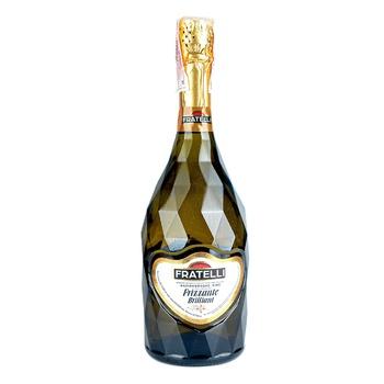 Вино слабогазированное Fratelli Frizzante Brilliant полусладкое белое 9-13% 0,75л
