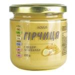 Горчица Novus с медом и имбирем 200г