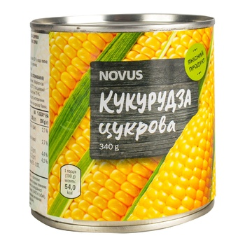 Novus Sterilized Canned Sugar Corn 340g