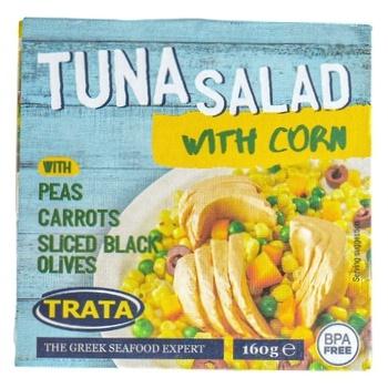 Салат Trata с кукурузой и тунцом 160г - купить, цены на Novus - фото 1