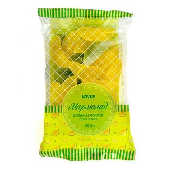 Мармелад Novus з ароматом груші та дині 200г - купити, ціни на Novus - фото 1