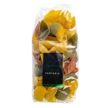 Макаронные изделия Casa Rinaldi Конкильоны Арлекино 5 цветов ракушки 500г - купить, цены на Novus - фото 1