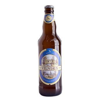 Пиво Вільнюс Алус пшеничне світле нефільтроване пастеризоване скляна пляшка 5%об. 500мл Литва - купити, ціни на Novus - фото 1