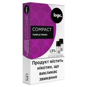 Картридж Logic Compact PurpleFresh для POD систем 1,5% 2шт - купити, ціни на Novus - фото 1