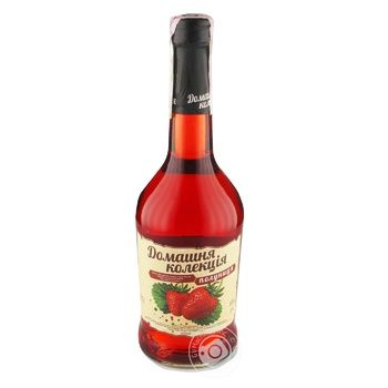 Home Collection Strawberry strong sweet pink fermented drink 12% 0.5l - buy, prices for Novus - image 1