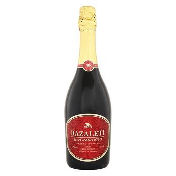 Вино игристое Bazaleti красное полусладкое 12% 0,75л