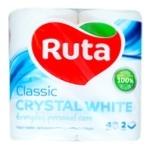 Папір туалетний Рута Classic білий 4шт