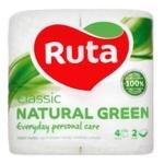 Бумага туалетная Ruta Aroma Яблоко зеленая 2-слойная 4шт