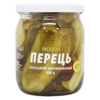 Перец Novus сладкий маринованный пастеризованный 480г - купить, цены на Novus - фото 1